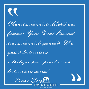 citation yves saint laurent