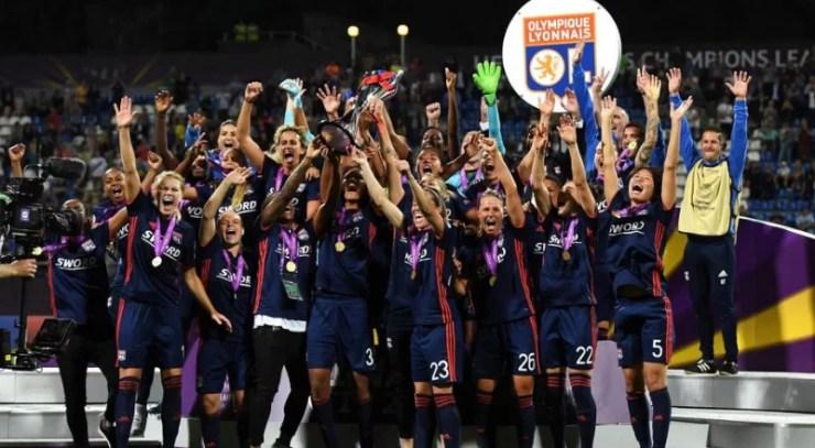 Les filles de l'Olympique Lyonnais ont remporté leur 5ème Ligue des Champions, la 3ème de suite – Getty Images