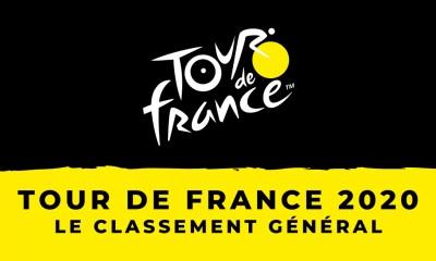 Tour de France 2020 : le classement général - Maillot jaune