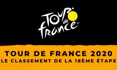 Tour de France 2020 : le classement de la 18ème étape