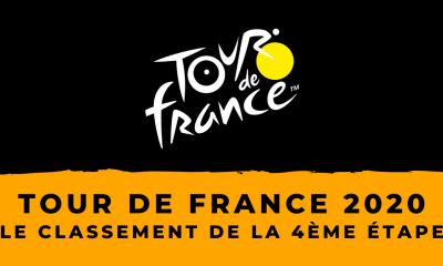 Tour de France 2020 : le classement de la 4ème étape