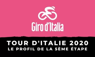Tour d'Italie 2020 - Le profil de la 5ème étape