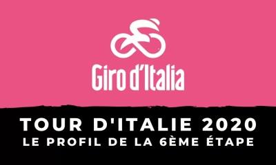 Tour d'Italie 2020 - Le profil de la 6ème étape