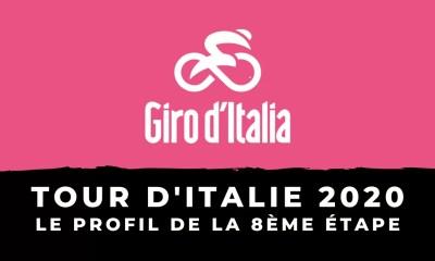 Tour d'Italie 2020 - Le profil de la 8ème étape