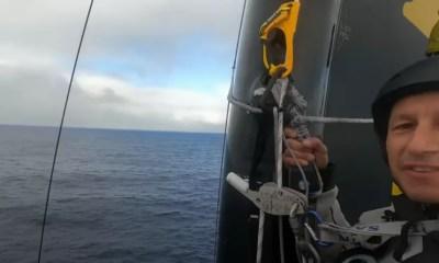 [Vidéo] La vue incroyable depuis le haut du mât d'Armel Tripon