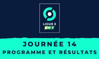 Calendrier Ligue 2 2020/2021 - 14ème journée : Programme et résultats