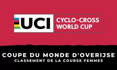 Cyclo-cross - Coupe du monde d'Overijse - Le classement de la course femmes