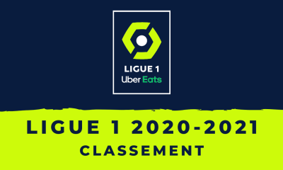 Football - Le classement de la Ligue 1 2020-2021