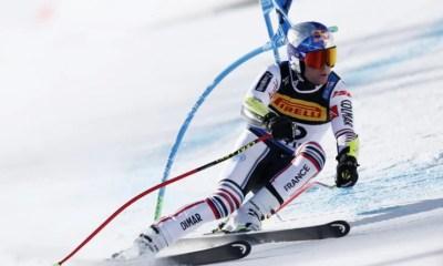 Cortina d'Ampezzo - Alexis Pinturault réalise le meilleur temps sur le Super-G du combiné