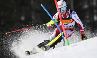 Cortina d'Ampezzo - Pertl meilleur temps de la 1ère manche du slalom, Noël et Pinturault placés