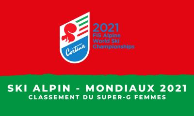 Ski alpin - Championnats du monde 2021 - Classement du Super-G femmes