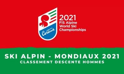 Ski alpin - Championnats du monde 2021 - Le classement de la descente hommes