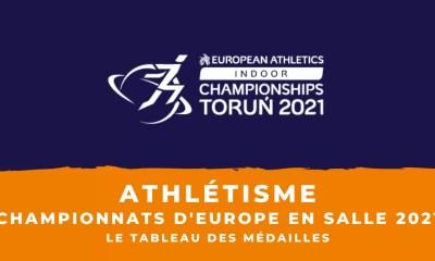Athlétisme - Championnats d'Europe en salle 2021 - Le tableau des médailles