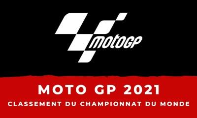 Moto GP le classement du championnat du monde des pilotes 2021