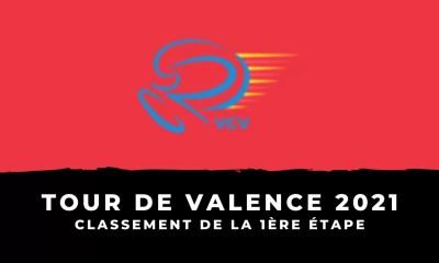 Tour de Valence 2021 - Le classement de la 1ère étape