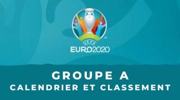 Euro 2020 – Groupe A calendrier et classement