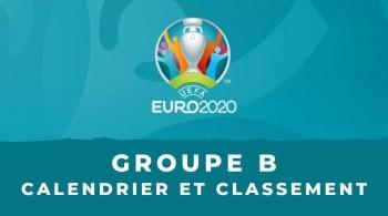 Euro 2020 – Groupe B calendrier et classement