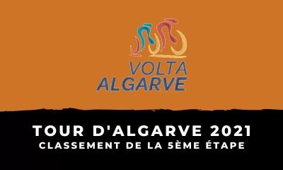 Tour d'Algarve 2021 - Le classement de la 5ème étape