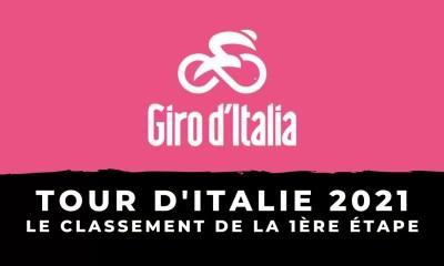 Tour d'Italie 2021 - Le classement de la 1ère étape