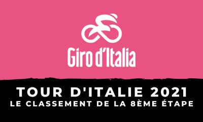 Tour d'Italie 2021 : le classement de la 8ème étape
