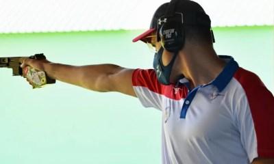 Championnats d'Europe de tir : Quiquampoix en or en pistolet vitesse 25 mètres, Bessaguet en bronze