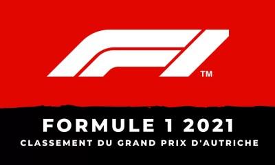 F1 - Grand Prix d'Autriche 2021 - Le classement de la course