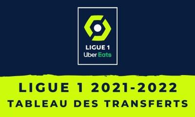 Ligue 1 2021-2022 Tableau des transferts