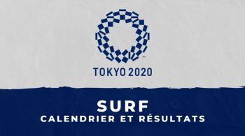 Surf – Jeux Olympiques de Tokyo calendrier et résultats