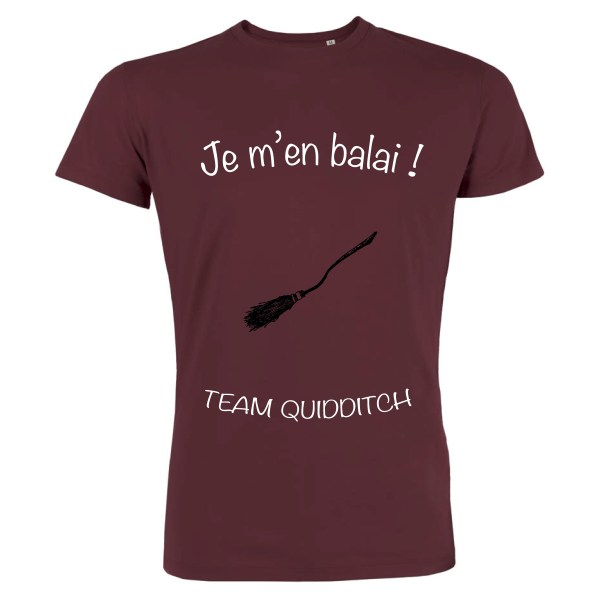 T-shirt Bordeaux Homme Je m'en balai - Team Quidditch