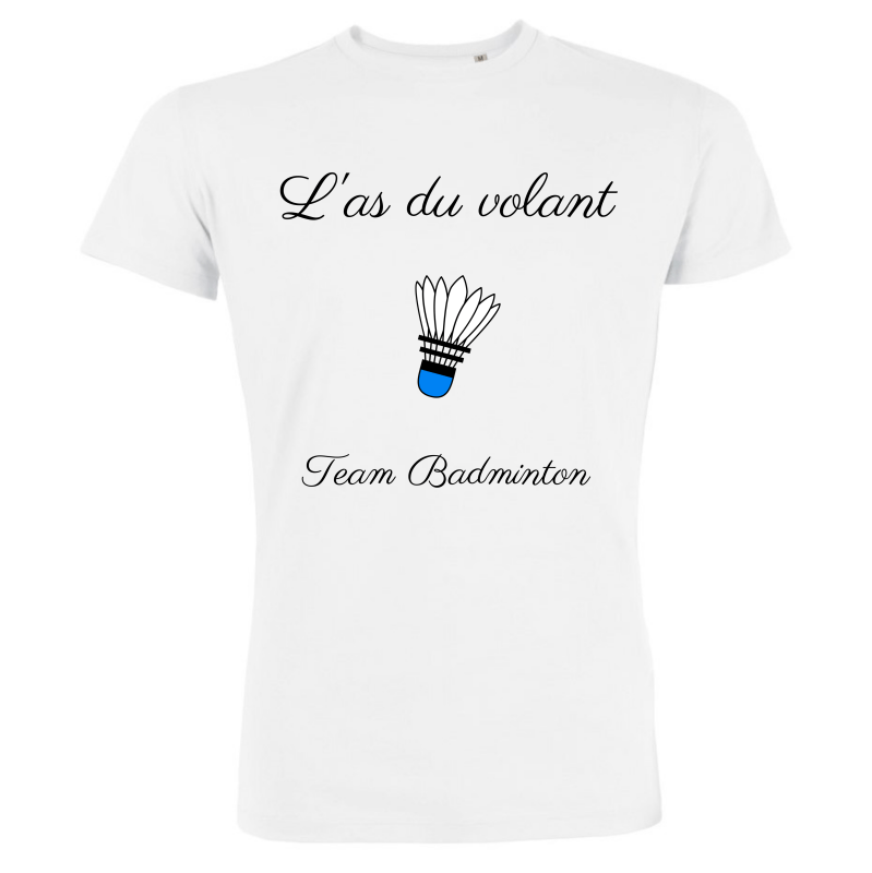 T-shirt Blanc Homme As du volant - Team Badminton