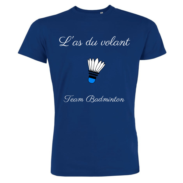 T-shirt Bleu Homme As du volant - Team Badminton