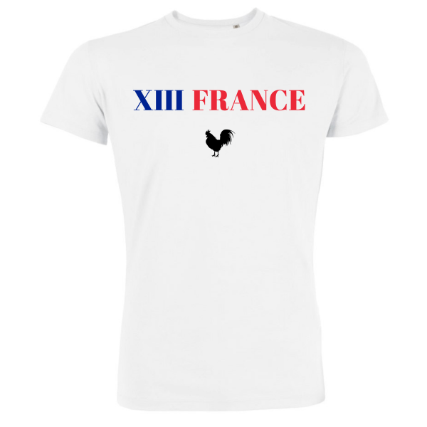 T-shirt Homme Blanc Rugby - Supporters du XIII de France
