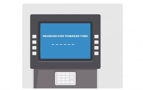 Masukkan Kode Penarikan Tunai di ATM Link