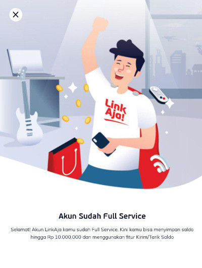 Akun LinkAja Full Service