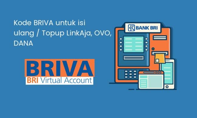 Top Up LinkAja, OVO dan Dana melalui BRIVA