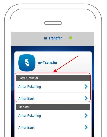 Transfer m-BCA: Menu m-Transfer BCA