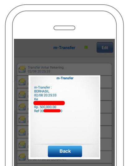 Bukti inbox m-Transfer BCA