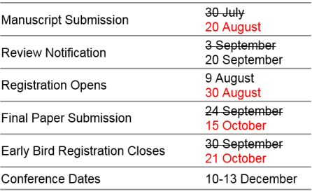 Important Dates Extended 4