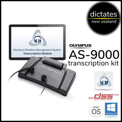 as9000 Olympus NZ AS-9000 digital transcription kit windows10 macOS ds2