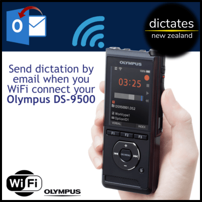 send digital dictation by email wifi connected dictaphone