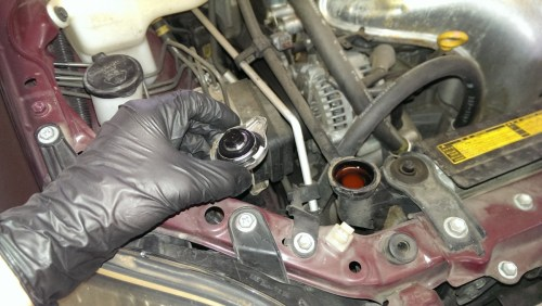 small resolution of open radiator fill cap