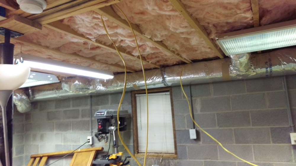 medium resolution of running wire along the joist using staples
