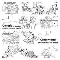 Dibujos Para Colorear Valores Humanos Para Niños Valores Y