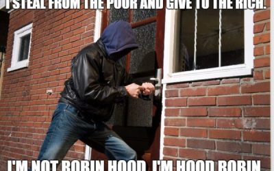 Stealing from the poor to give to the rich