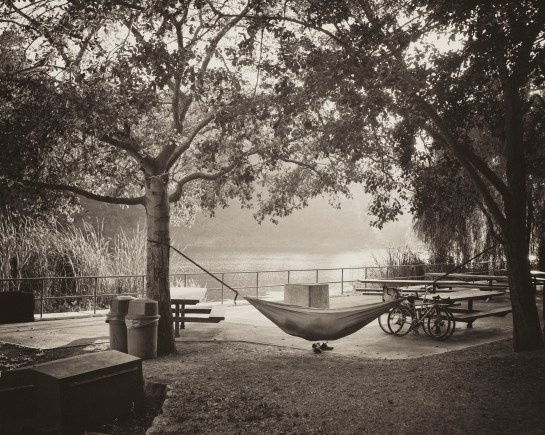 he Hammock, Lake Temescal, Oakland, CA,  medium format film, Dida Kutz
