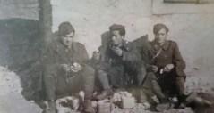 """Soldati di Antrodoco, Cardellini Serani Castrucci, del 63° fanteria """"Cagliari"""", Albania febbraio 1941,"""