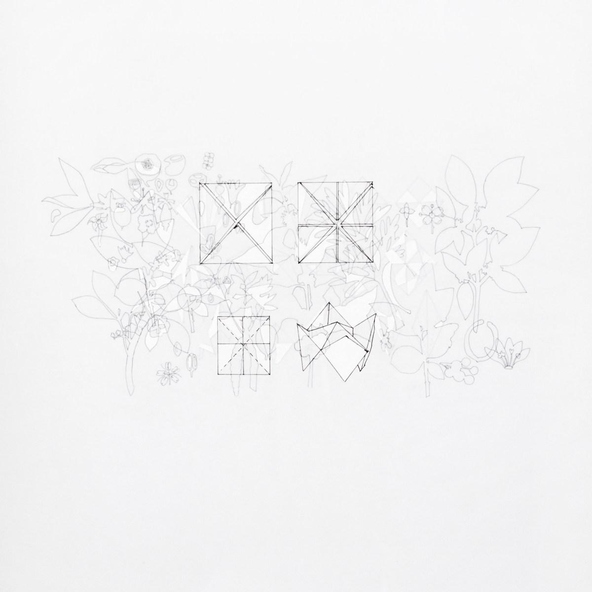 """Dibujo de la artista Maria Campiglia """"Sobre el tacto I"""". Vista del reverso"""