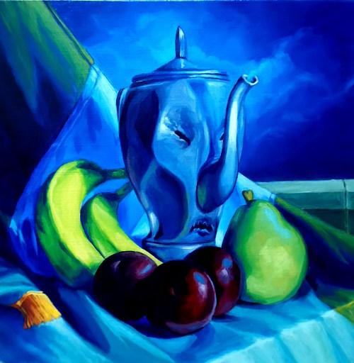 óleo sobre tela del artista Manuel Mathar, 2019