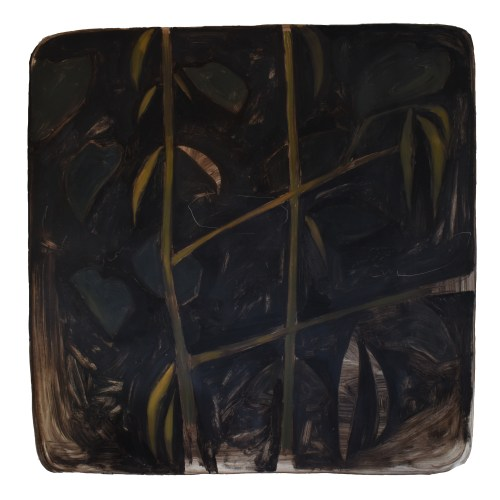 Oleo sobre papel de la artista Alicia Ayanegui