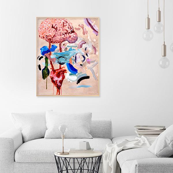 Pintura de Alan Hernandez en living